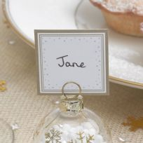 Winter Wonderland - Bauble Place Cards (10)